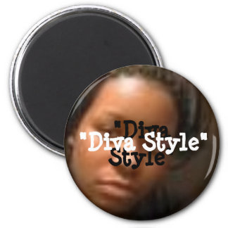 """Diva Style""-Round Magnet"