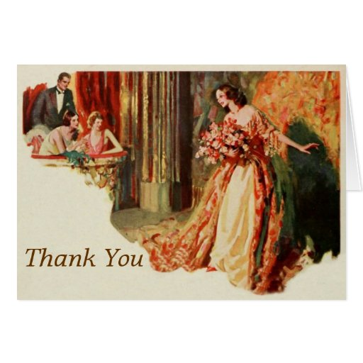 Diva Thank You Template Greeting Card