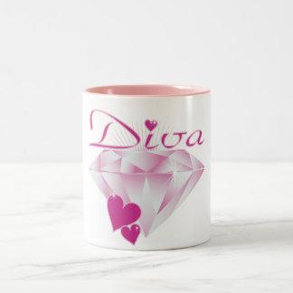 Diva Two-Tone Coffee Mug