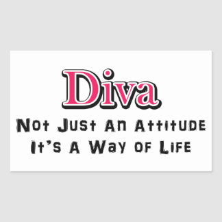 Diva Way of Life Rectangular Sticker