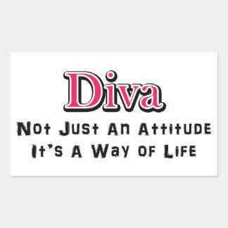 Diva Way of Life Rectangular Sticker