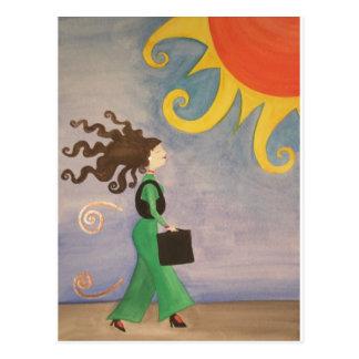Diva Working Woman Postcard
