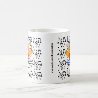 Divabear and Music Notes Coffee Mug