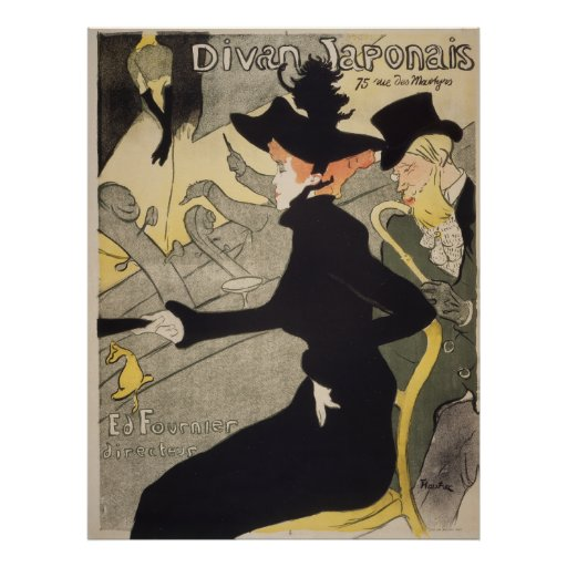Divan japonais by toulouse lautrec vintage french poster for Divan in french