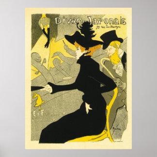 Diván Japonais de Enrique de Toulouse-Lautrec Impresiones