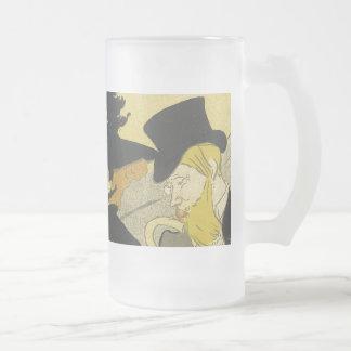 Divan Japonais 16 Oz Frosted Glass Beer Mug