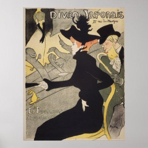 Divan japonais toulouse lautrec vintage poster zazzle for Divan japonais