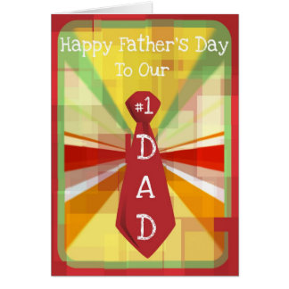 Diva's #1 Dad Father's Day for Our Dad Card
