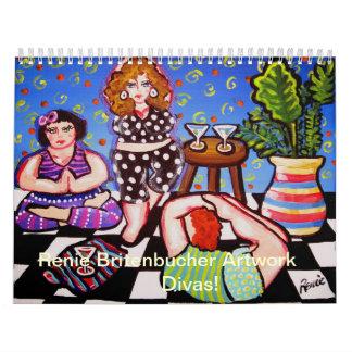 Divas 2014 Calendar Artwork of Renie Britenbucher