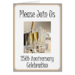 Diva's 25th Anniversary Party Invitation Greeting Cards