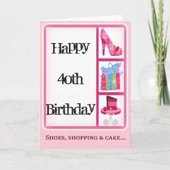 Divas 40th Birthday Card For Women Zazzle
