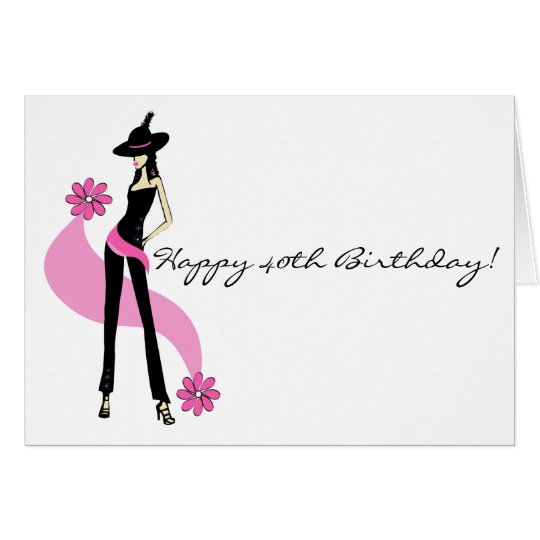 40th Birthday Wishes For A Woman ~ Diva s th birthday card for women zazzle