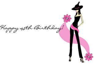 Divas 45th Birthday Card For Women