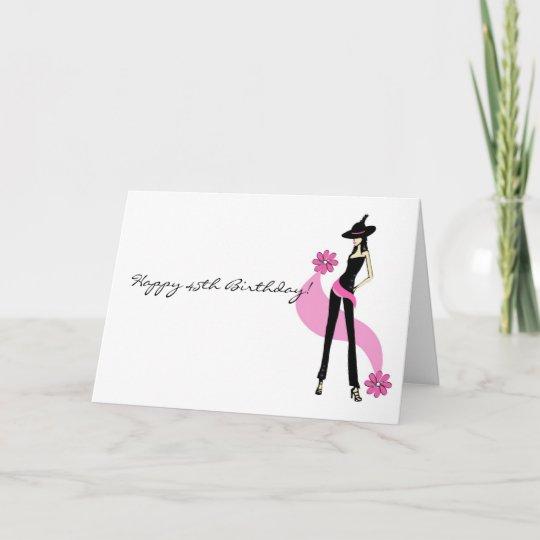 Divas 45th Birthday Card For Women Zazzle