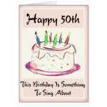 Diva's 50th Birthday Card for Baby Boomers