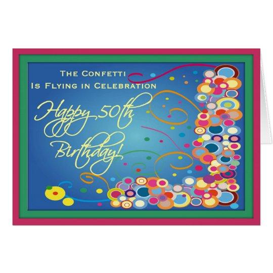 Diva's 50th Birthday Confetti Card