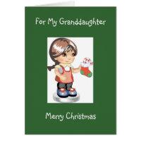 Diva's Christmas Card for Her Granddaughter