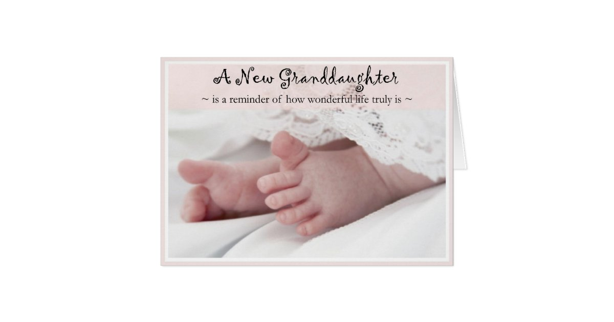Diva's Congrats on Your New Granddaughter Card | Zazzle.com
