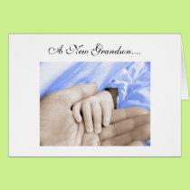 Diva's Congratulations-New Grandson Greeting Card