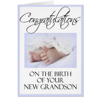 Diva's Congratulations-New Grandson Greeting Card
