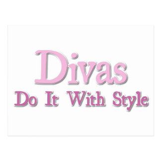 Divas Do It With Style Postcard