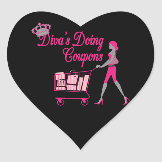 Diva's Does Coupons Heart Sticker