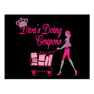Diva's Does Coupons Postcard