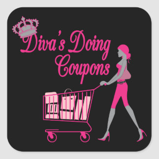 Diva's Does Coupons Square Sticker