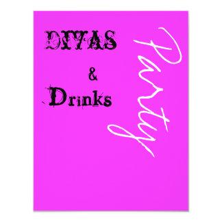 Divas & Drinks Party Invite