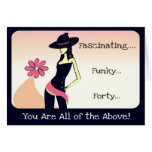 Diva's Fascinating, Funky 40th Birthday Card