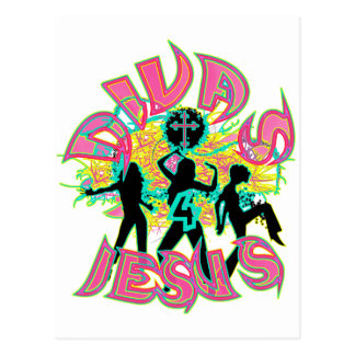 Divas for Jesus in blacklight color Postcard