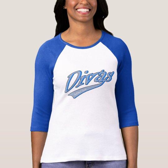 Divas Girl Softball Team T-Shirt