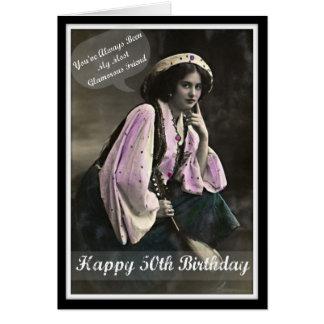 Diva's Glamorous 50th Birthday Greeting Card