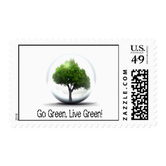 Diva's Go Green, Live Green Postage