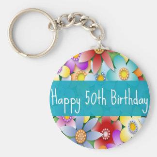 Diva's Happy 50th Birthday Keychain