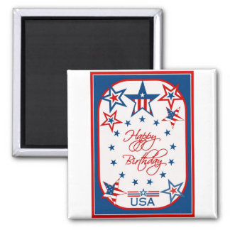 Diva's Happy Birthday USA Magnet