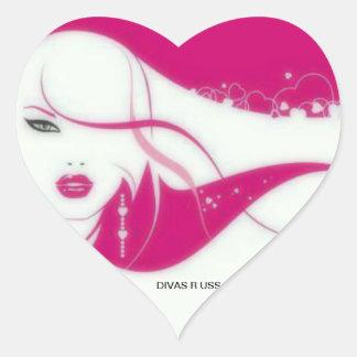 DIVAS HEART STICKER