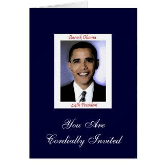 Diva's Obama Inauguration Party Invitation Greeting Card