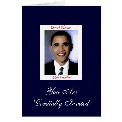 Diva's Obama Inauguration Party Invitation Greeting Cards