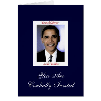 Diva's Obama Inauguration Party Invitation Greeting Card