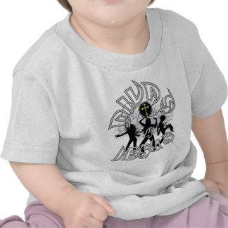 Divas para Jesús blanco y negro Camiseta