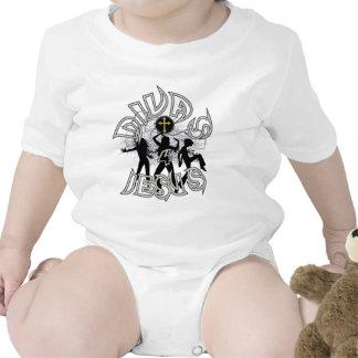 Divas para Jesús blanco y negro Traje De Bebé