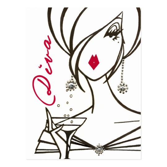 Divas Rule! postcard - Customized