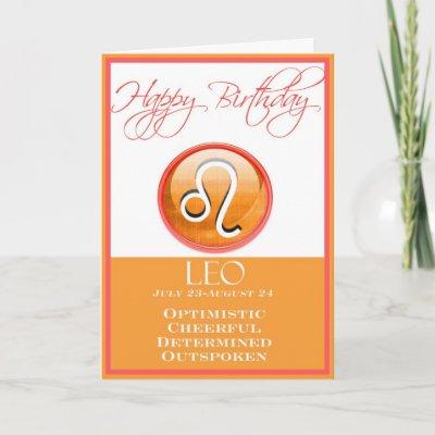 Diva's Zodiac Birthday Card for Leo by NightSweatsDiva
