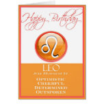 Diva's Zodiac Birthday Card for Leo