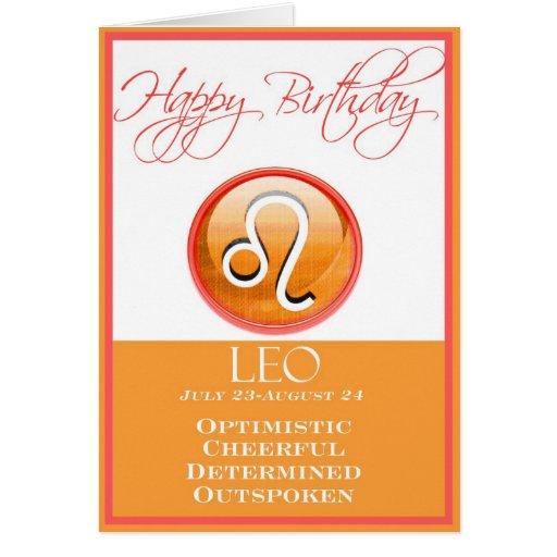 Diva's Zodiac Birthday Card For Leo