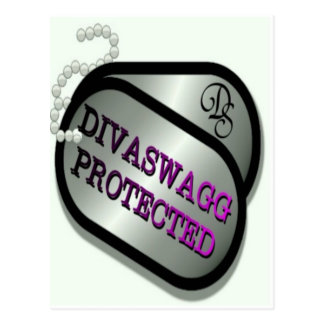 DIVASWAGG PROTECTED DOG TAGS POSTCARD