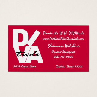 """DIVAtude"" Business Card"