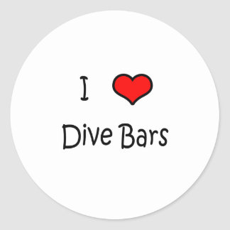 Dive Bars Classic Round Sticker