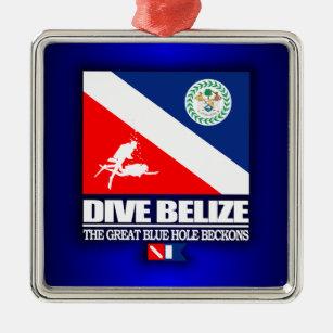 Dive Belize Metal Ornament